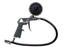 Air compressor gun with manometer isolated on a white background Stock Image