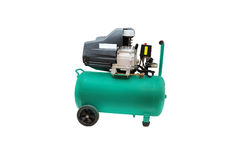Air compressor. Isolated under the white background royalty free stock image