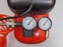 Air compressor manometer Stock Photo