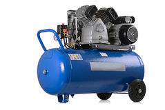 Air compressor. New air compressor on a white background Stock Photos