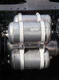 Air compressor tank. S for big truck brakes stock photography