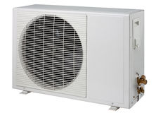 Air conditioner condensing cooling systems unit is Royalty Free Stock Image