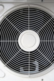 Air condition. Ing unit. White metal ing fan Royalty Free Stock Images