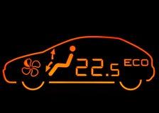 Air Condition. On Car Dashboard stock photos