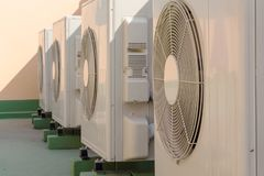 Air condition compressor. Air condition fan coil unit outdoor stock photography