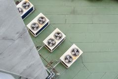 Air condition compressor. Air condition fan coil unit outdoor stock photos