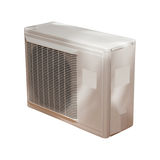 Air condition condenser. Isolated on white background Royalty Free Stock Images