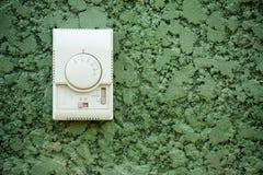 Air condition control on wall Stock Photos