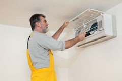Air condition examine or install Stock Photo
