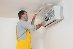 Air condition examine or install Royalty Free Stock Photo