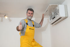 Air condition examine or install Stock Photography