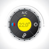 Air condition gauge with yellow led Stock Photography