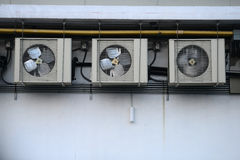 Air Condition. Heat Air Condition on the Wall Stock Photos