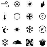 Air condition icon set. The air condition icon set stock illustration