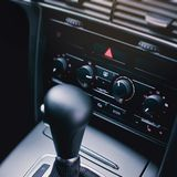 Air condition in modern car panel. Stock Image