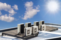 Air condition outdoor unit Stock Photo