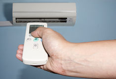 Air condition remote control Stock Photography
