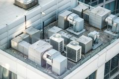 Air condition system on the building roof top.  Stock Photography
