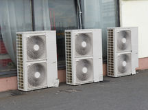 Air  condition system outdoor units Stock Photography