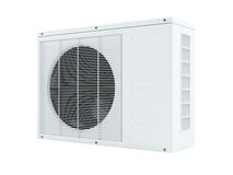 Air conditioner. 3d air conditioner on white background Royalty Free Stock Photo