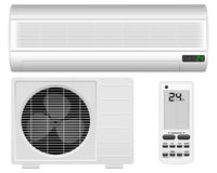Air conditioner. System on white background Royalty Free Stock Photo