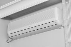 Air conditioner. Indoor unit mounted on home wall Royalty Free Stock Photos