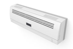 Air conditioner. On white wall Royalty Free Stock Photos