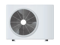 Air conditioner. Vector illustration isolated on white background Stock Photography
