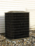 Air Conditioner AC Condenser Unit Outside House Royalty Free Stock Images