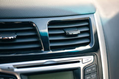 Air conditioner. the air flow inside the car. Royalty Free Stock Image