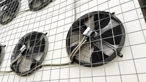 Air conditioner blades rotation close up. Air conditioner blades rotation close up stock video
