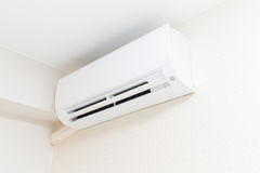 Air conditioner blowing cold air. Royalty Free Stock Photo