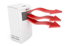 Air conditioner blowing hot air Royalty Free Stock Image