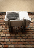 Air conditioner on brick wall Royalty Free Stock Photos