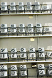 Air conditioner on a building. Many air conditioner on a building Stock Image