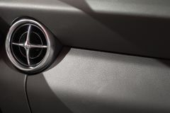 Air conditioner in car. Close up of air conditioner in car,Automobile detail Royalty Free Stock Photography