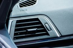 Air conditioner in car. Close up of air conditioner in car,Automobile detail Royalty Free Stock Image