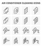 Air conditioner  and cleaning Royalty Free Stock Images