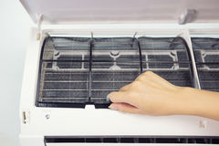 Air conditioner cleaning Stock Photography