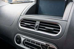 Air conditioner. In compact car Royalty Free Stock Image