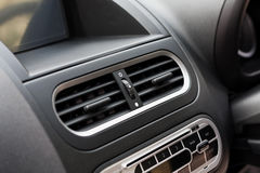 Air conditioner in compact car. Close up Stock Photography
