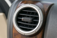 Air conditioner in compact car. Closeup Stock Image