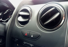 Air conditioner in compact car Royalty Free Stock Photos