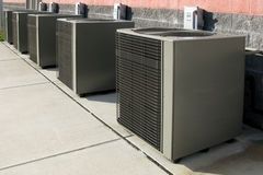 Commercial Hvac Air Conditioner Condenser Fans Stock Image