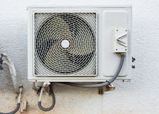 Air conditioner compressor installed on a building Royalty Free Stock Photography