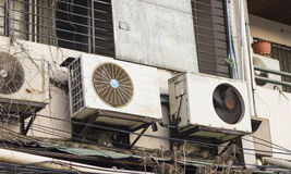 Air conditioner compressor units stock photography