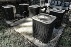 Air Conditioner Condenser Cooling Compressor Units Royalty Free Stock Photography