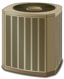Air Conditioner Conditioning Unit Beige Stock Photo