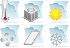 Air Conditioner Document Icons Royalty Free Stock Photography