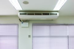 Air conditioner and emergency lighting stock photo